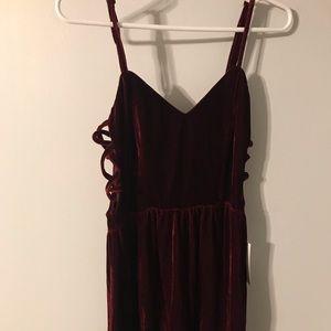 NWT Red Velvet Dress